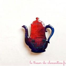 Magnet collection cafetière bleu/violet à rouge un cadeau original et utile de fabrication artisanale