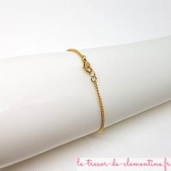 Bracelet femme baroque ou médiéval rose et or La longueur peut être adaptée sur demande.