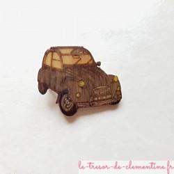 2 cv grise voiture mythique magnet de collection un cadeau original pour passionné