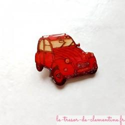2 cv rouge voiture mythique magnet de collection un cadeau original pour passionné