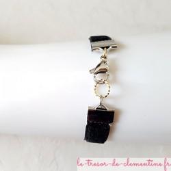 Fabrication artisanale française ce bracelet de 18 cm peut être fourni dans une autre taille sur demande.