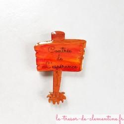 """Magnet de collection panneau """"Contrée de l'Espérance"""""""