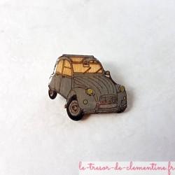 Broche de collection 2 cv grise voiture mythique un cadeau original pour passionné