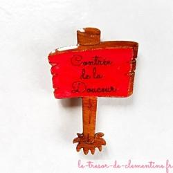 """Magnet de collection panneau """"Contrée de la douceur"""" cadeau utile pour petits et grands"""