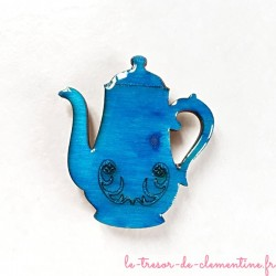 Magnet collection cafetière bleu turquoise un cadeau original et utile de fabrication artisanale