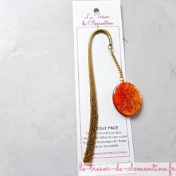 Marque-page abeille orange...