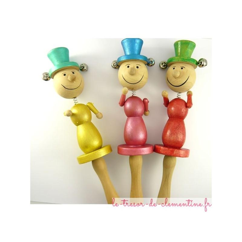 3 Pantins clochette décorés