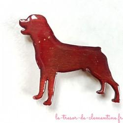 Magnet collection chien type doberman marron fait main