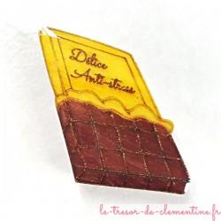 """Magnet de collection tablette de chocolat """"délice anti-stress"""" fabrication artisanale"""