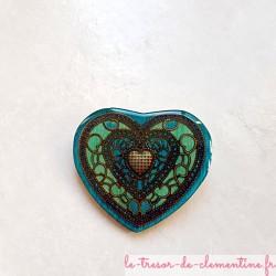 Broche artisanale coeur...