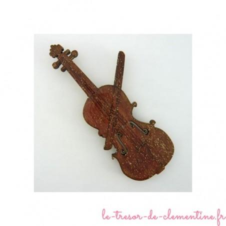 Magnet sous forme de violon en bois
