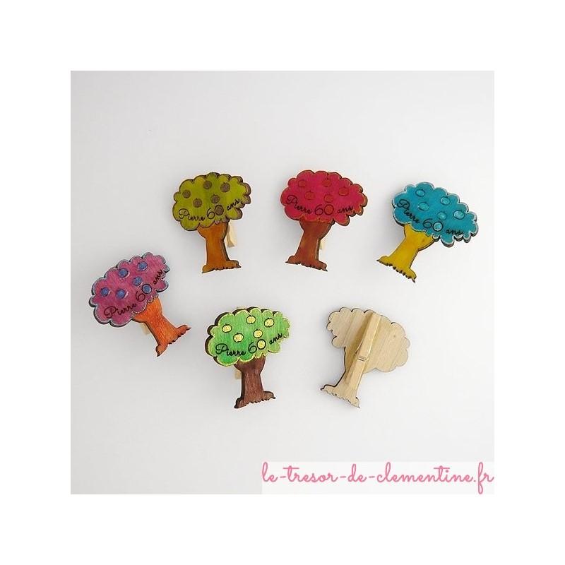 Pommier, décor de table texte gravé et couleurs personnalisés