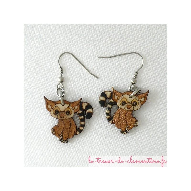 Lémuriens en boucles d'oreilles petit modèle