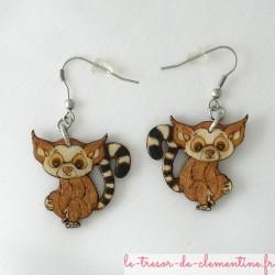 Lémuriens en boucles d'oreilles moyen modèle