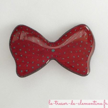 Broche noeud papillon rouge