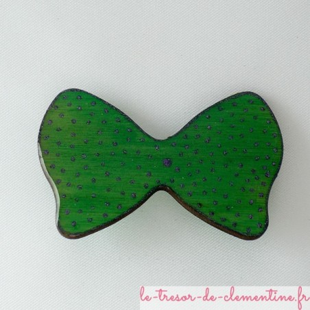 Broche noeud papillon vert