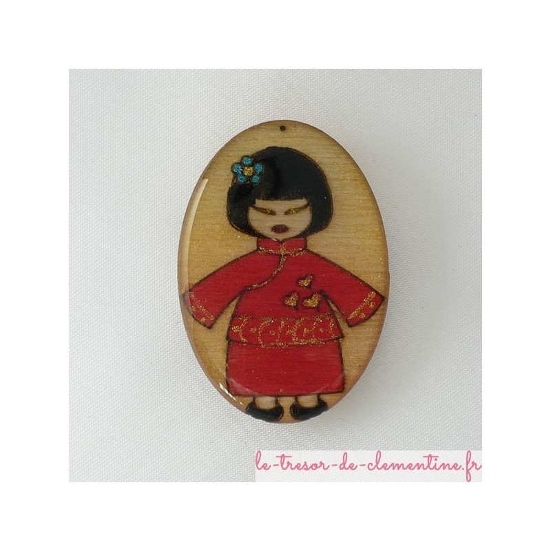 Broche noeud papillon rouge