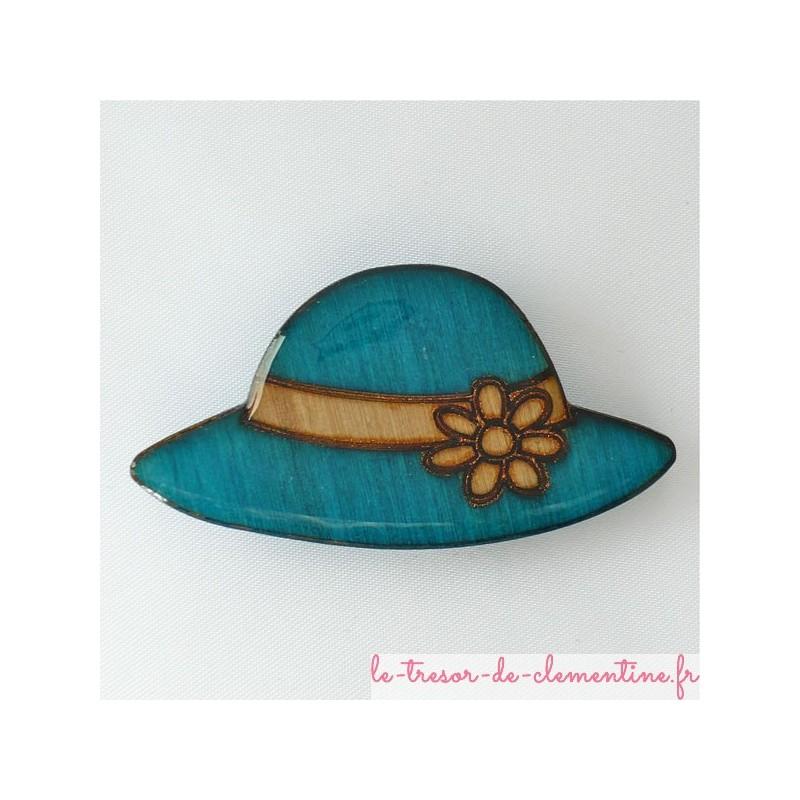 Brtoche originale fantaisie chapeau turquoise