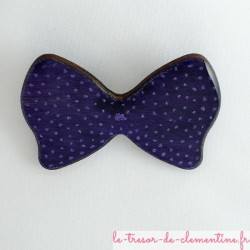 Broche noeud papillon violet