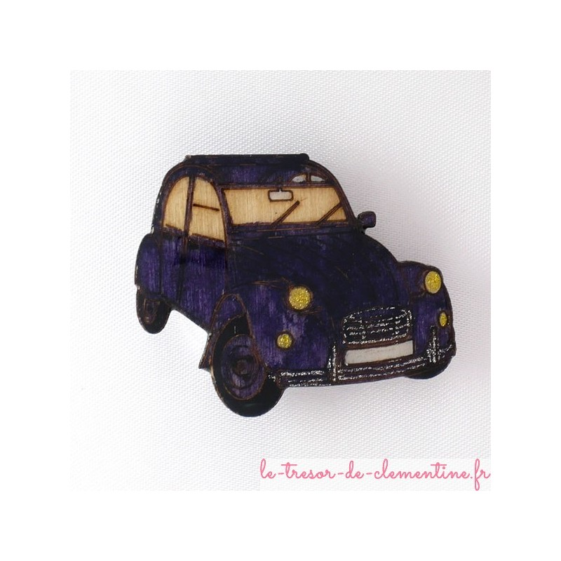 broche forme 2 cv pour collectionneur et amoureux de cette voiture. Black Bedroom Furniture Sets. Home Design Ideas