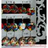 boucle d'oreille fantaisie décor vitrail  style médiéval, bijou unique très léger, acier inoxydable