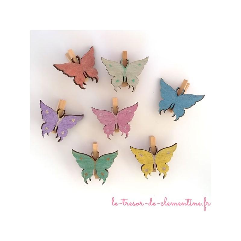 Marque place papillon en bois