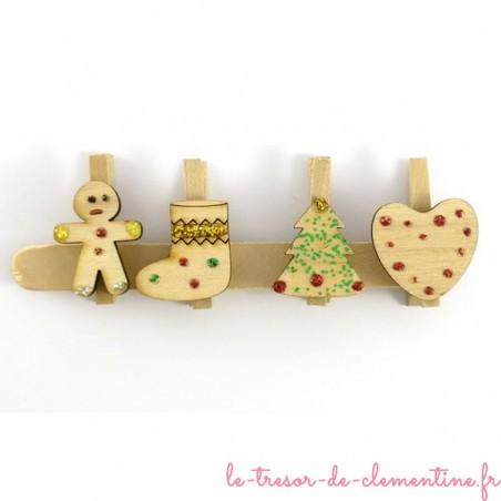 4 marque-places de Noël - ensemble numéro 1