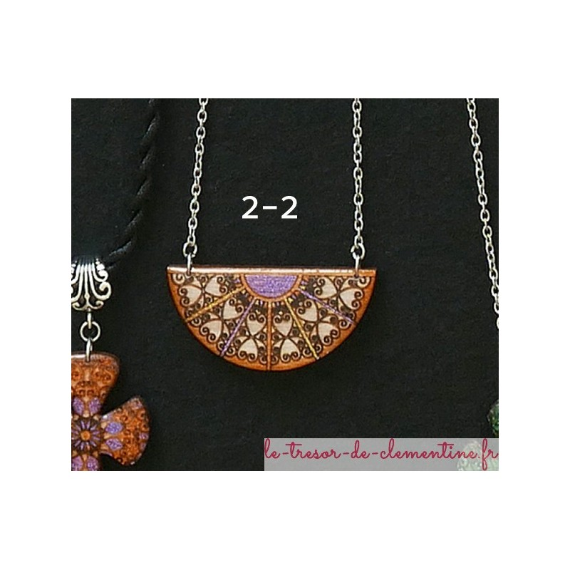 bijou original pendentif baroque médiéval de création artisanale personnalisable sur demande