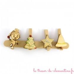 4 marque-places de Noël - ensemble numéro 3