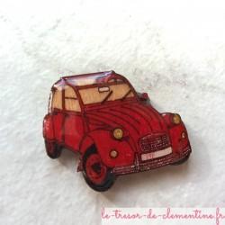 Broche originale 2 cv rouge (voiture mythique)