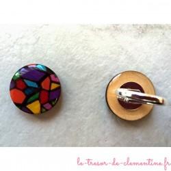 Bague artisanale vitrail, bijou médiéval, clémentine créateur de bijou original, cette bague artisanale est unique