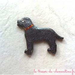 Broche chien, broche enfant ou adulte oeil en strass swarovski, broche originale petite série personnalisable