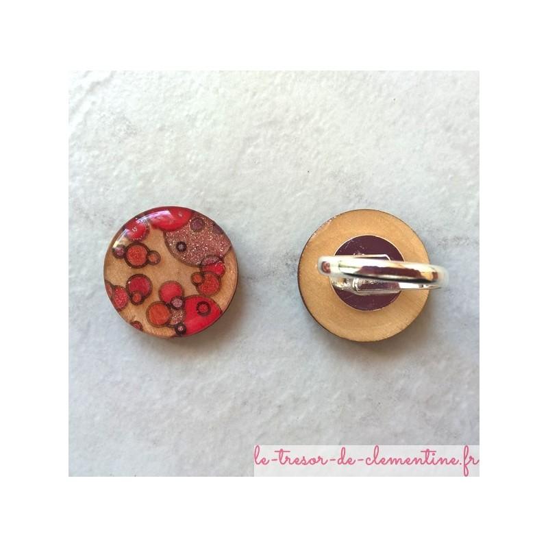 Bague fantaisie bulle roses bijou de créateur original