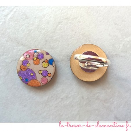 Bague originale bulle multicolore