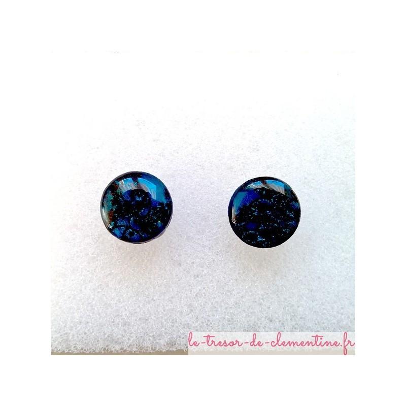 Puce d'oreille turquoise boucle d'oreille fantaisie bijoux style baroque