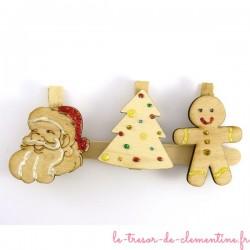 3 marque-places de Noël -grand  ensemble numéro 3