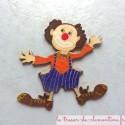 Clown en bois peint à la main, personnalisable sur demande modèle unique, fabrication française peint à la main