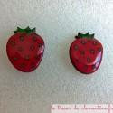 Boucle d'oreille fraise boucle d'oreille fantaisie pour enfant ou adulte, personnalisable sur demande