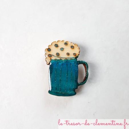 Magnet forme chope de bière mousse