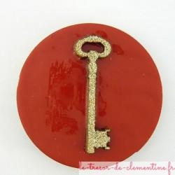 Magnet avec clef en bois