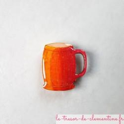 Magnet chope de bière cadeau uitile pour liste de course et photos sur frigo, tableau....