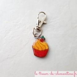 Accroche-sac à main ou sac à dos cupcake, permet d'identifier facilement le sac