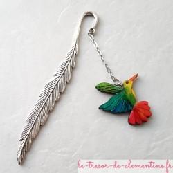 Marque-page oiseau Colibri multicolore
