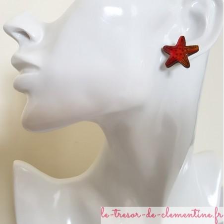 Puce d'oreille étoile de mer orange