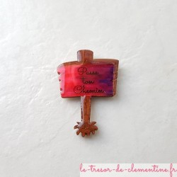 Magnet de collection panneau passe ton chemin cadeau utile pour petits et grands