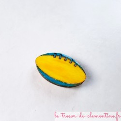 Magnet de collection ballon de rugby