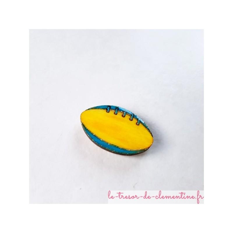 Magnet de collection ballon de rugby cadeau utile pour petits et grands
