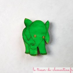 Magnet de collection éléphant vert
