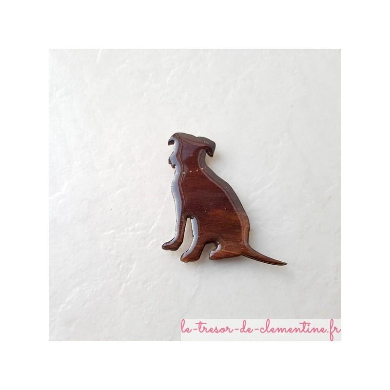 Magnet de collection chiens assis Labrador, Création artisanale française décor à la main Cadeau utile pour petits et grands