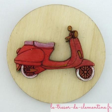 Magnet avec scooter en bois